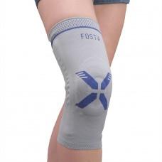 Фиксатор коленного сустава с силиконовыми кольцами и боковыми пластинами F 1602