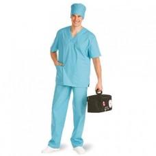 Костюм хирургический спанбонд (рубашка и брюки) пл 42г/м2 голубой