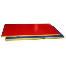 Мат гимнастический гп50-10 (1*2*0,08м) трехцветный