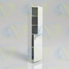 Шкаф для документов ЛДСП одностворчатый ШД1-4 на опорах 1900х400х400 мм.